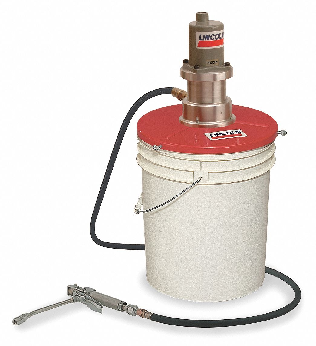 Lincoln Grease Pump With Gun Fits Container Size 25 To 50 Lb Welder Fuel 2 Air Motor 6wb20 4489 Grainger
