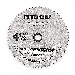 "4-1/2"" Steel Metal Cutting Circular Saw Blade, Number of Teeth: 136"