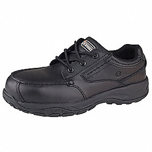 "4""H Men's Work Shoes, Composite Toe Type, Leather Upper Material, Black, Size 12W"