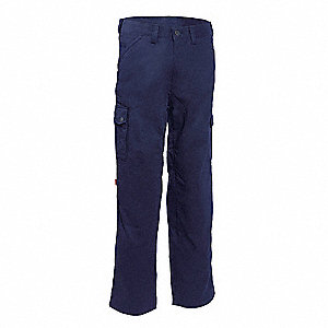 "Men's Cargo Work Pants with Kneepads, 65% Polyester/35% Cotton, Color: Navy, Fits Waist Size: 32"" x"