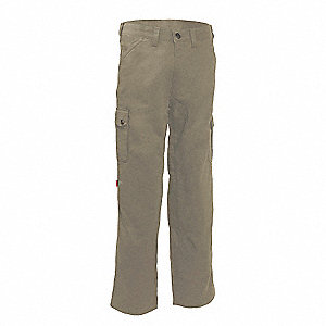 "Men's Cargo Work Pants with Kneepads, 65% Polyester/35% Cotton, Color: Tan, Fits Waist Size: 32"" x 3"