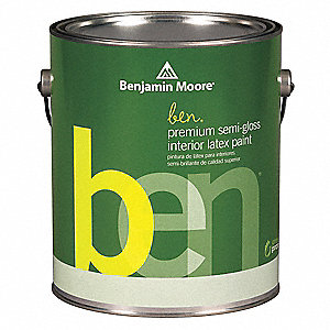 Semi-Gloss Interior Paint, Water, Lafayette Green, 1 gal.