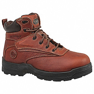 "6""H Women's Work Boots, Composite Toe Type, Leather Upper Material, Deer Tan, Size 8-1/2"