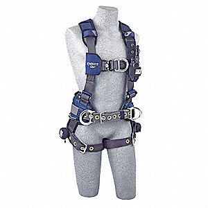 L Wind Energy Full Body Harness, 6000 lb. Tensile Strength, 420 lb. Weight Capacity, Blue