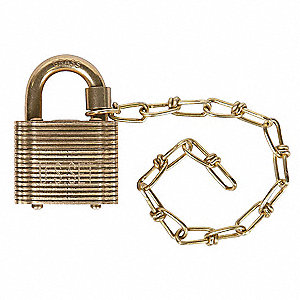 "Keyed Padlock,Alike,1-1/2""W,PK5"