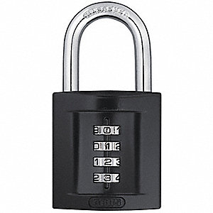 "Combination Padlock, Resettable Front-Dial Location, 1-5/16"" Shackle Height"