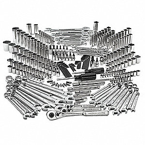 SAE, Metric Master Tool Set, Number of Pieces: 273, Primary Application: Mechanic