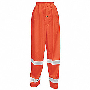 Hi-Vis Rain Pants,Hi-Vis Orange,4XL