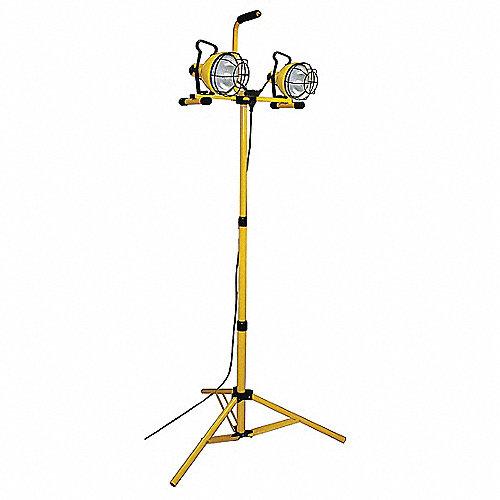 Luminaria de Trabajo,Watts de Lámpara 240,Halógeno, Amarillo con Negro