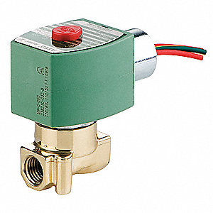 "240/60, 220/50 Brass Solenoid Valve, Normally Closed, 3/8"" Pipe Size"