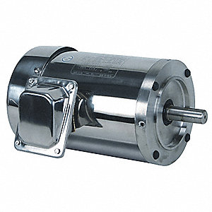1 HP Washdown Motor,3-Phase,1750 Nameplate RPM,230/460 Voltage,Frame 143TC