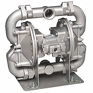 Cast-Iron Santoprene® Single Double Diaphragm Pump, 140 gpm, 125 psi