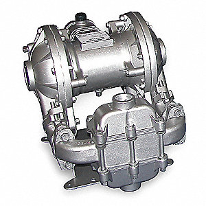 Aluminum Santoprene® Single Double Diaphragm Pump, 42 gpm, 125 psi