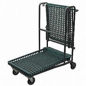 Garden Cart, 300 lb. Load Capacity, Number of Shelves 1, (2) Rigid, (2) Swivel Caster Type