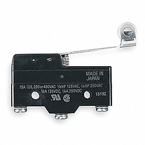 Industrial Snap Switch, SPDT Contact Form, 480VAC Voltage Rating, 20A Current Rating