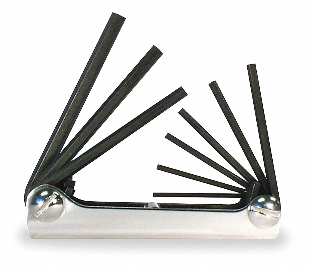 Short Plain SAE Black Oxide Folding Hex Key Set, Number of Pieces: 9