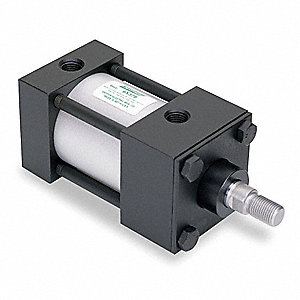 "2"" Air Cylinder Bore Dia. with 1"" Stroke Aluminum , Side Tapped/Sleeve Nut Mounted Air Cylinder"