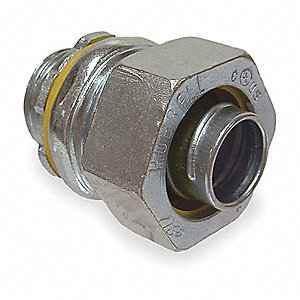 Malleable Iron/Steel Noninsulated Connector, Connector Type: Straight, Conduit Size:  3/4""