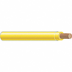 Building Wire,THHN,6 AWG,Yellow,500ft