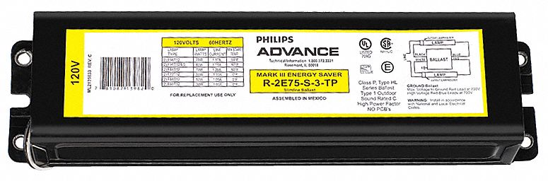 6X923_AS01 philips advance ballast,magnetic,instant,158w 6x923 r 2e75 s tp  at soozxer.org