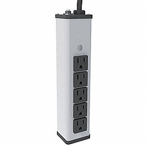 Outlet Strip,9-1/4 In,5 Outlet