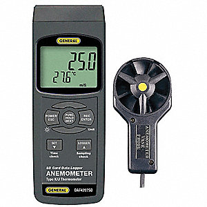 Data Logging Anemometer,79 to 6890 fpm