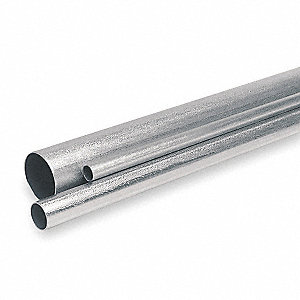 "EMT Galvanized Steel Conduit, Trade Size: 3/4"", Nominal Length: 10 ft."