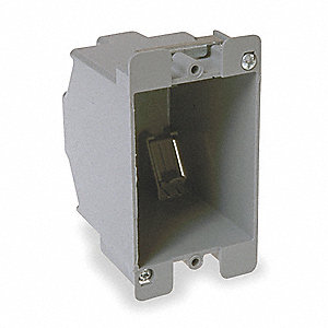 "Electrical Box, Thermoplastic, 2-7/8"" Nominal Depth, 2-1/4"" Nominal Width, 3"" Nominal Length"