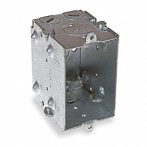 "Electrical Box, Galvanized Zinc, 2-1/2"" Nominal Depth, 2"" Nominal Width, 3"" Nominal Length"