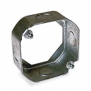 "Extension Ring, Galvanized Steel, 1-1/2"" Nominal Depth, 4"" Nominal Width, 4"" Nominal Length"