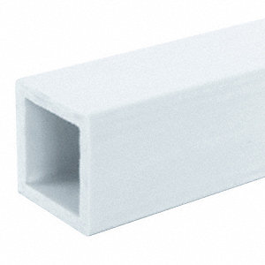 white Sign Post, Composite, Length: 8 ft., 1 EA