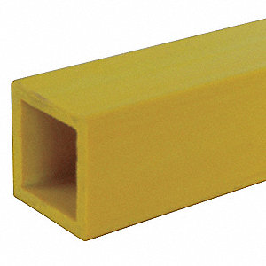 Yellow Sign Post, Composite, Length: 7 ft., 1 EA