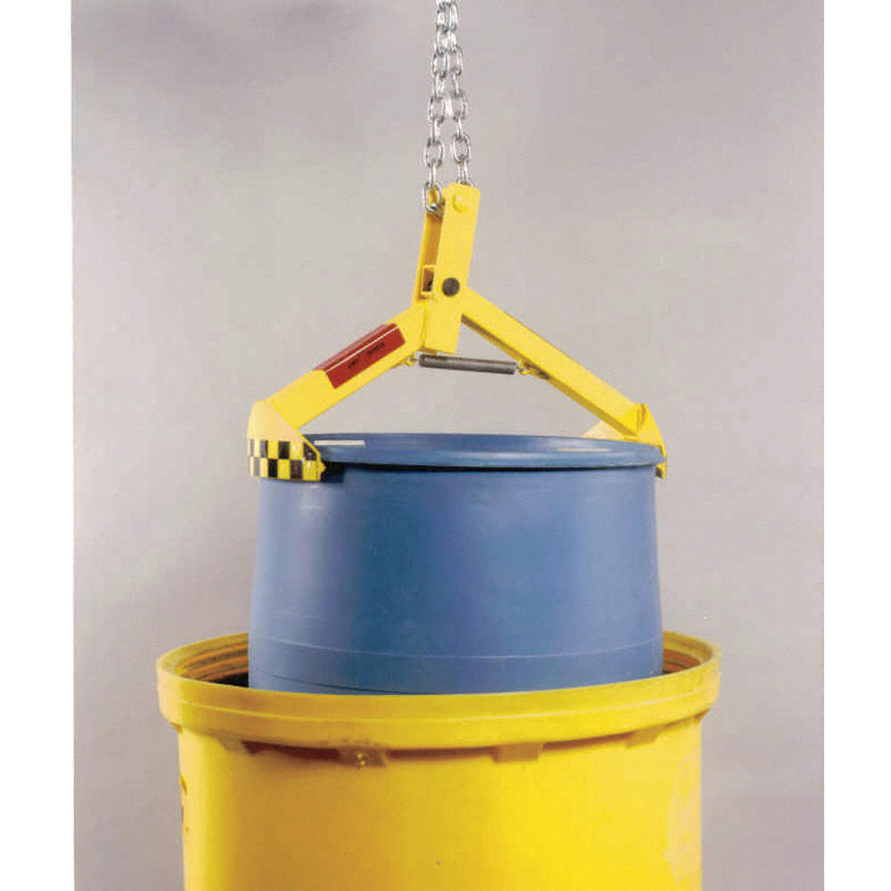 Drum Hoist Clamp 1000 lb Vertical Drum Clamp Vertical 55 Gallon Drum Hoist Lift