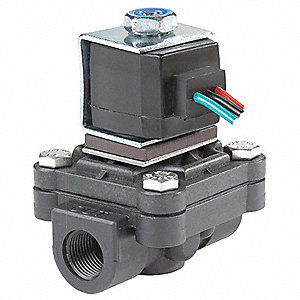 Noryl Latching Solenoid Valve, 2-Way/2-Position Valve Design, Normally Closed