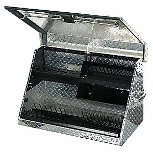 "Portable Tool Box, Aluminum, 30"" Overall Width x 15"" Overall Depth"
