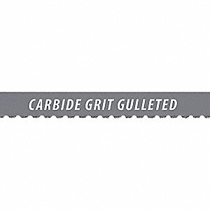 "7 ft. 9"" Carbide Grit Carbide Band Saw Blade, 3/4"" Width"