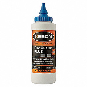 Marking Chalk,Waterproof,Blue,8 oz.