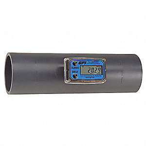 Turbine 3 Male Spigot Flowmeter, PVC, 40 to 400 gpm