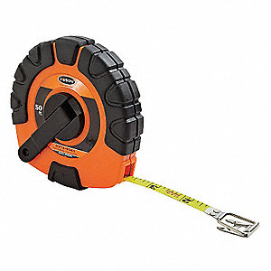 50 ft. Steel SAE Long Tape Measure, Orange