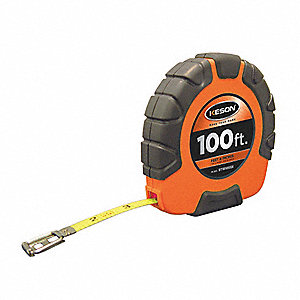 100 ft. Steel SAE Long Tape Measure, Orange