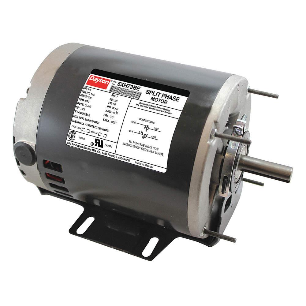 1/4 HP General Purpose Motor,Split-Phase,850 Nameplate RPM,Voltage Dayton Electric Motor Hp V Wiring Diagram on