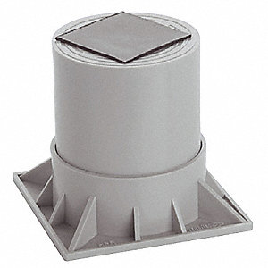 Heat Pump Riser,Two Piece, 6 In.,Gray