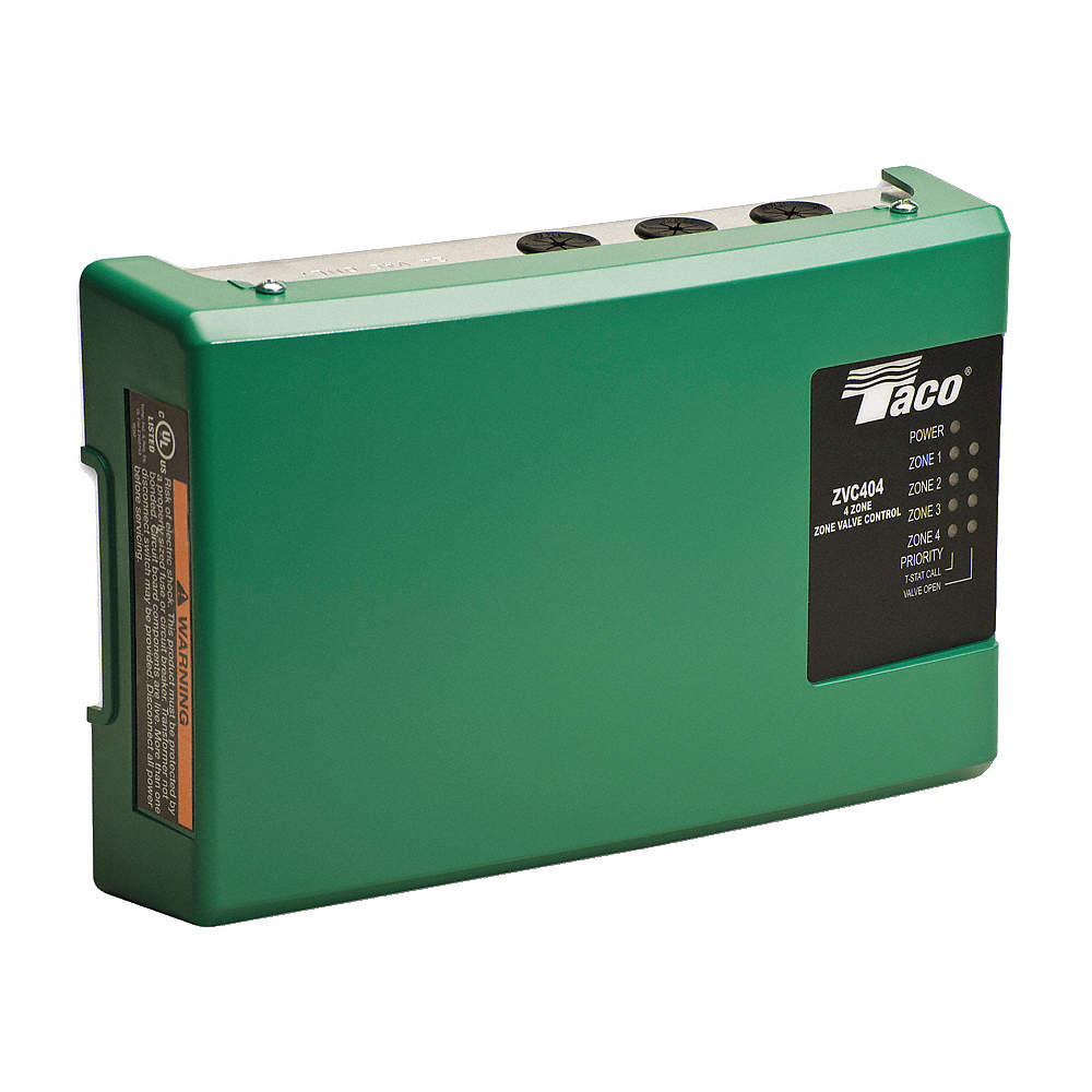 TACO Boiler Zoning Control, For Use With Zone Valves, 4 Zone Valves, Length  (In.) 11-1/8 - 6XJY6|ZVC404-4 - GraingerGrainger