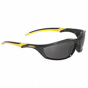 Router  Scratch-Resistant Safety Glasses, Smoke Lens Color