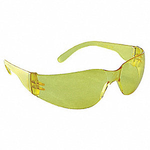 Mirage™ Scratch-Resistant Safety Glasses, Amber Lens Color