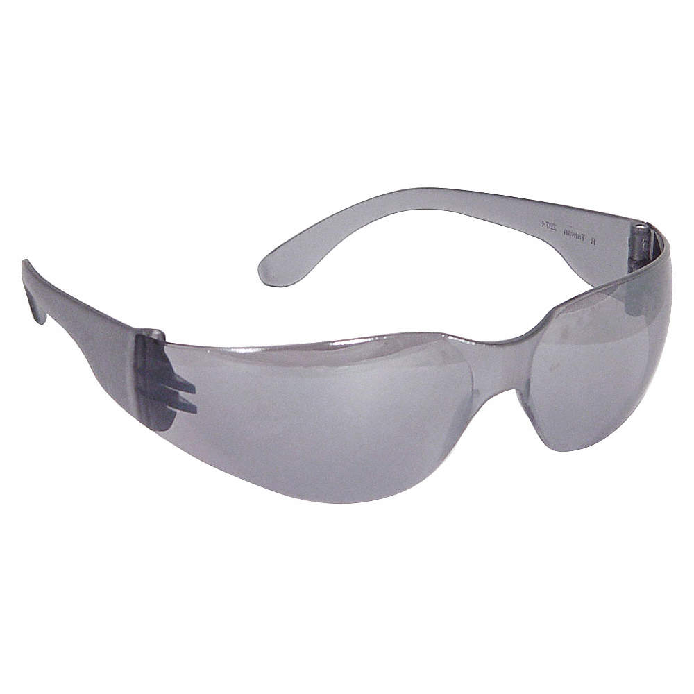 CONDOR 1FYY9 Proflyer™ Safety Glasses Silver Frm Mirror Scratch-Resistant