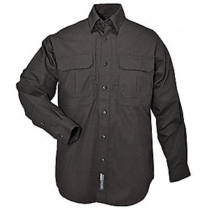 Woven Tactical Shirt,Black,XS