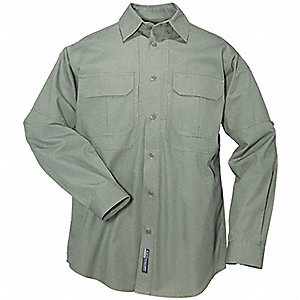 Woven Tactical Shirt, OD Green, 3XL