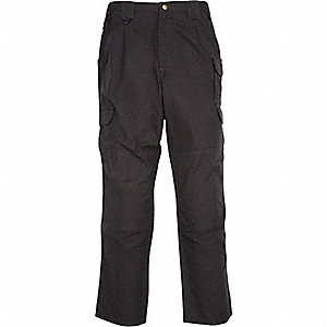 "Men's Tactical Pants. Size: 54"", Fits Waist Size: 54"" to 55"", Inseam: 39-1/2"", Black"