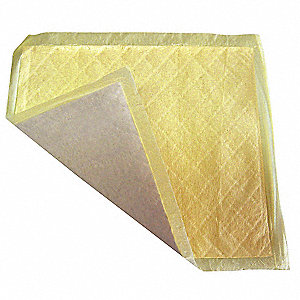 Absorbent Pad,Universal,Yellow,PK400